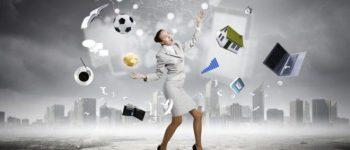 woman juggling chaos